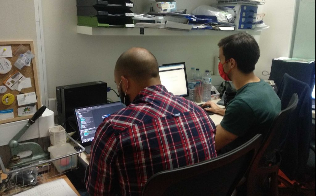 Volunteers implementing the dashboard at AZP