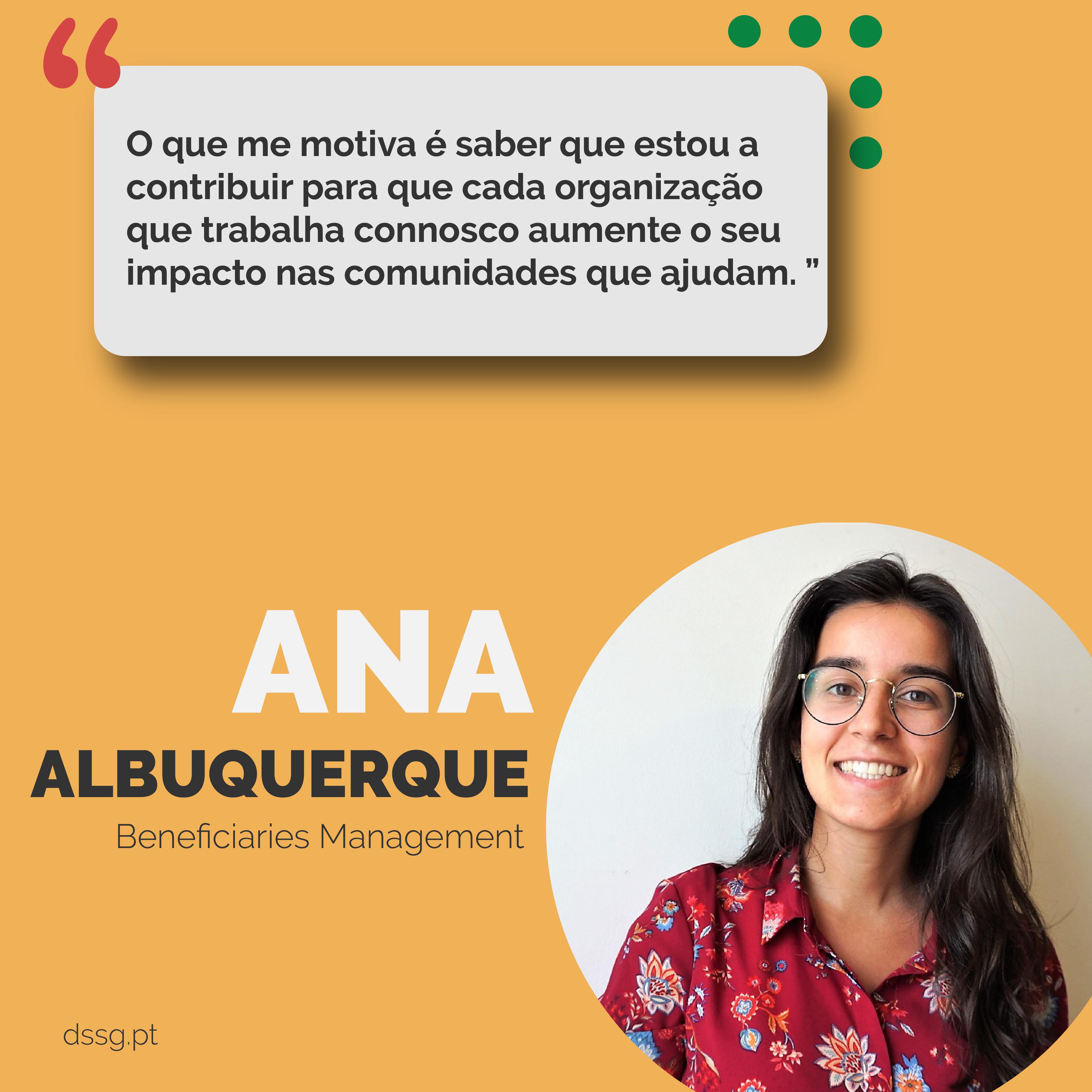 Faces of DSSG: Ana Albuquerque [Gestão de Beneficiários]