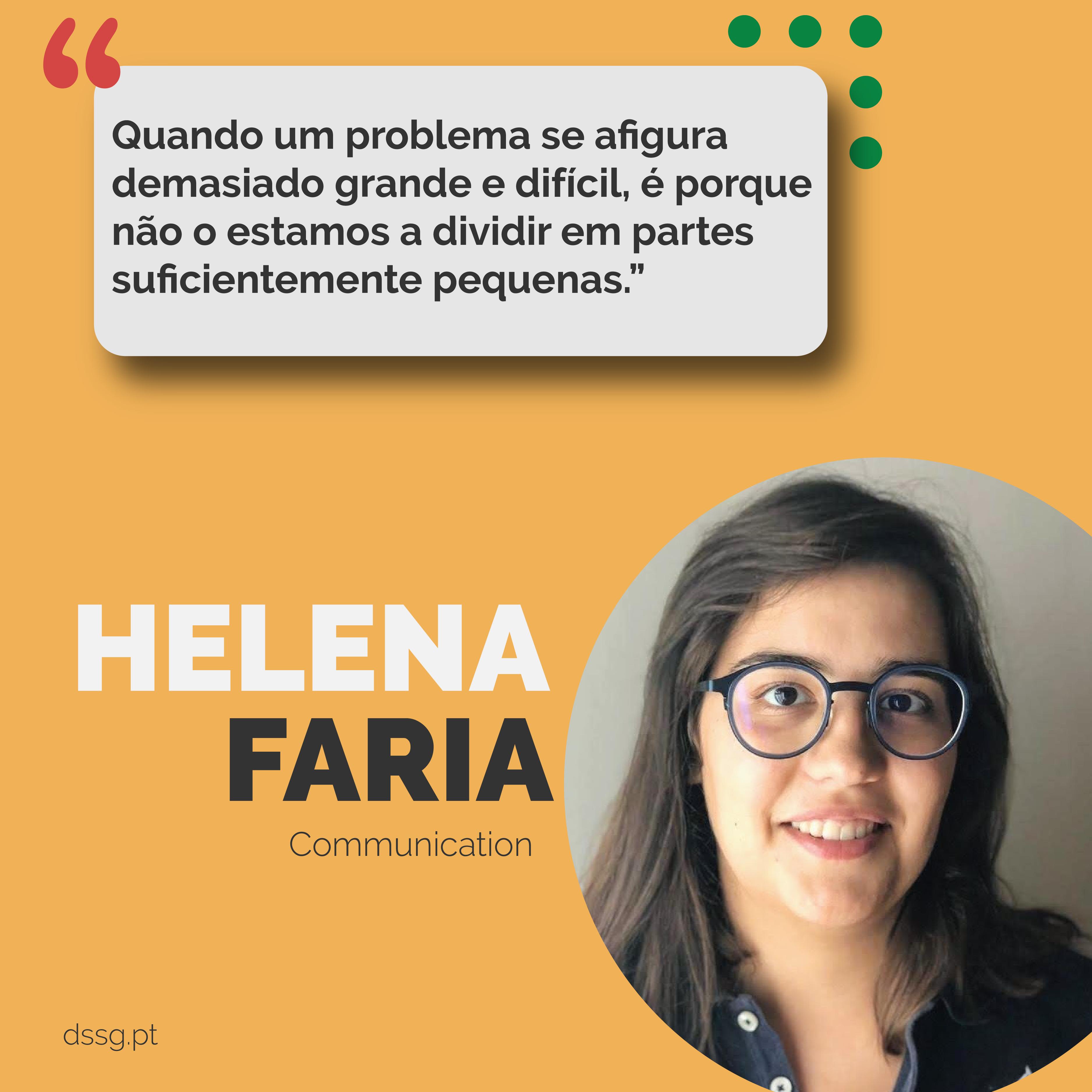 Faces of DSSG: Helena Faria [Comunicação]